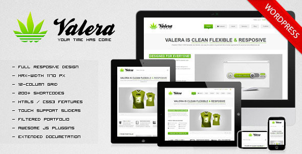 valera адаптивный шаблон bootstrap для wordpress
